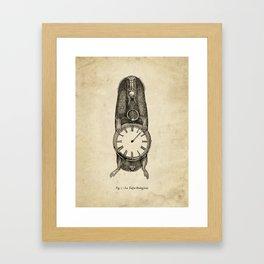 A Clockwork Mole Framed Art Print
