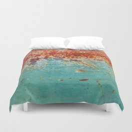 Teal Rust Duvet Cover