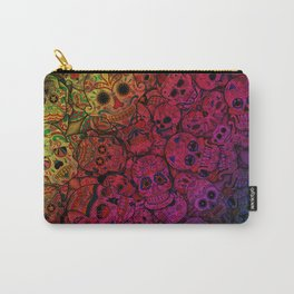 Rainbow Sugar Skulls Carry-All Pouch
