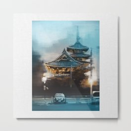 Sensoji Temple Dusk Metal Print