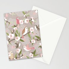 Blossom and birds Stationery Cards