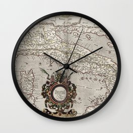 Vintage Map of Italy (1618) Wall Clock