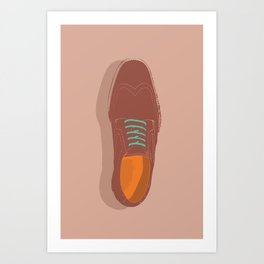 'Brogue Trader' - Brown Leather Shoe Study  Art Print