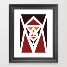 Five Triangle Faces - The Pope Framed Art Print
