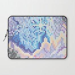 Pixelated Nebula Blue Laptop Sleeve