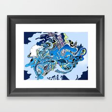 Swimming in the mind Framed Art Print