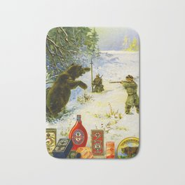 Vintage Russian Gunpowder Advertisement Bath Mat