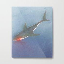 The White Shark Metal Print
