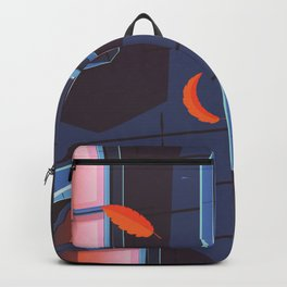 NYC Brownstone in the fall Backpack