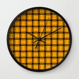 Orange Weave Wall Clock