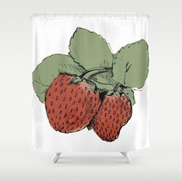 Two Strawberries Shower Curtain