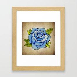 Blue Rose - Tattoo Artwork Framed Art Print