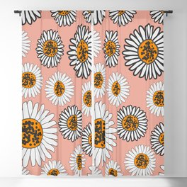 Daffodils in coral pink Blackout Curtain