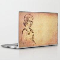katniss Laptop & iPad Skins featuring Katniss - Portrait by Silvanne