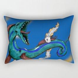 Serpent Sea Monster Rectangular Pillow