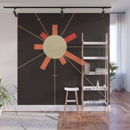 paper sun || charcoal Wall Mural