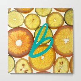 Citrus - Citron (Recettes du Bonheur) Metal Print