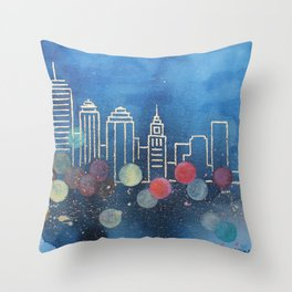 Boston skyline, 2 of 2 Throw Pillow