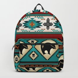 Indian print with bears Backpack