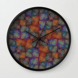 Orange Flowers Stylized Wall Clock