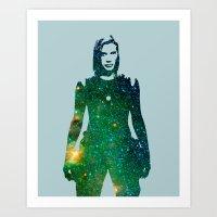 battlestar galactica Art Prints featuring Starbuck Battlestar Galactica by pithyPENNY