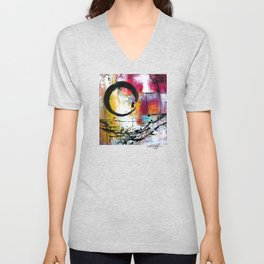 Enso Abstraction No. mm15 Unisex V-Neck