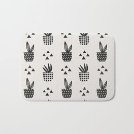 Trendy Stamped Potted Plants Bath Mat