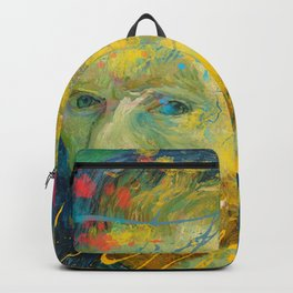 Van Gogh Street Art Dripping Remix Backpack