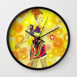 Psychedelic Dancer  Wall Clock