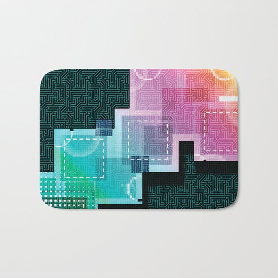 Abstract Tech Bath Mat