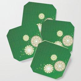 Russian Christmas (Green) Coaster