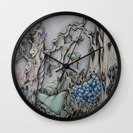 Mystical Woods Wall Clock