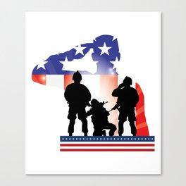 Soldier Patriotic American Flag Memorial Day Gift Canvas Print