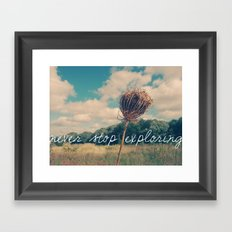 Never Stop Exploring II Framed Art Print