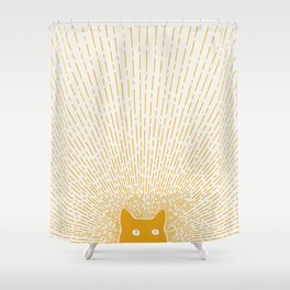 Cat Landscape 96: Good Meowning Shower Curtain