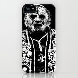 You Taste Like Death Pope iPhone Case