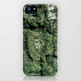 Mossy Birch Bark iPhone Case