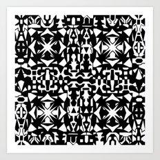 Black and White Square 2 Art Print