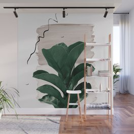 Fiddle Leaf Abstract - Naturelle #1 #minimal #wall #decor #art #society6 Wall Mural