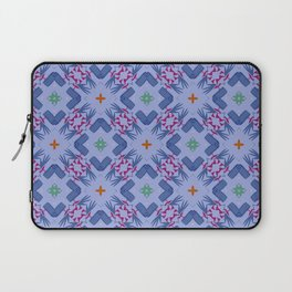 Bueno Aires pattern blue purple green orange Laptop Sleeve