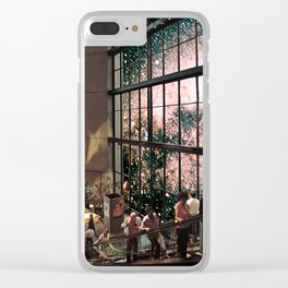 Nebula Mall, Riding the Escalator. Clear iPhone Case