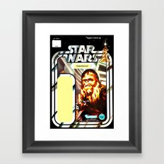 Chewbacca Vintage Action Figure Card Framed Art Print