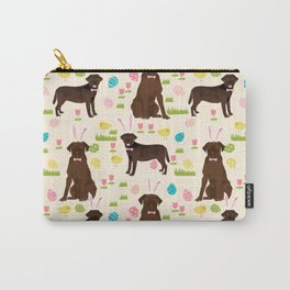 Chocolate Lab labrador retriever dog breed pet art easter pattern costume spring Carry-All Pouch