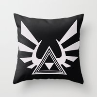 triforce Throw Pillows featuring triforce by Black