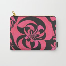 Abstract black and fuchsia Carry-All Pouch