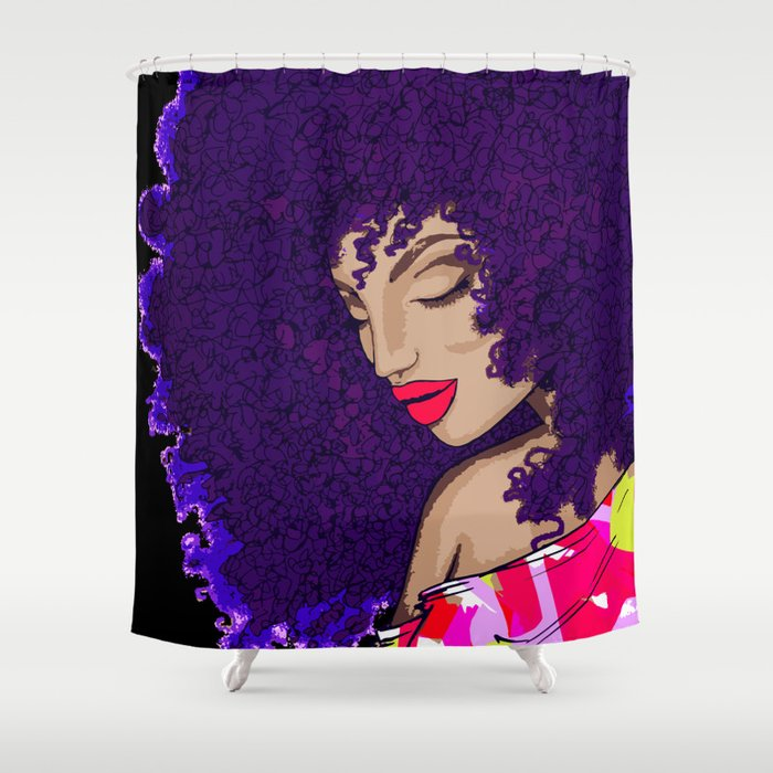 Afro Dancer Shower Curtain