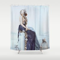 rapunzel Shower Curtains featuring Rapunzel by Rose's Creation
