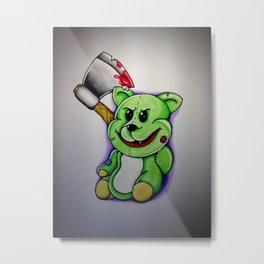 Psychotic Teddy Metal Print