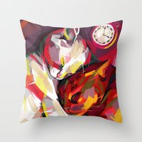 cuddle Throw Pillows featuring Cuddle Time by Travis Clarke