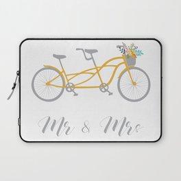 MR & Mrs Tandem Bike Yellow Laptop Sleeve
